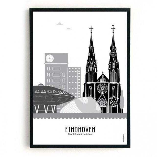 poster_eindhoven_zwart_wit